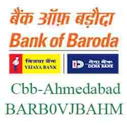 Vijaya Baroda Bank Cbb‐Ahmedabad Branch New IFSC, MICR