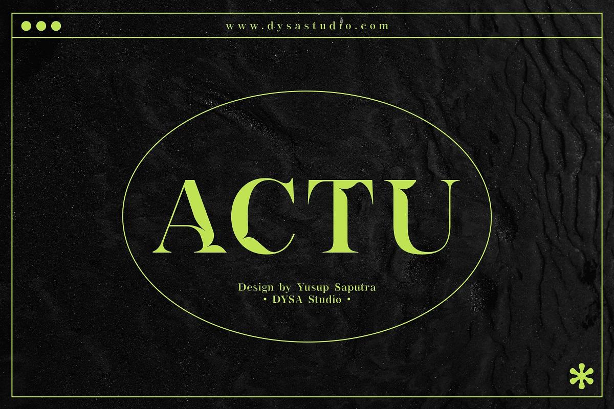 Actu Font - Free Modern Serif Typeface