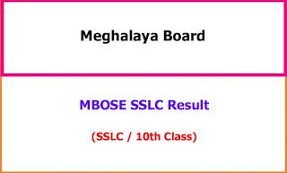 Meghalaya 10th Exam Result 2021