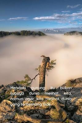 kata kata terima kasih pendaki gunung