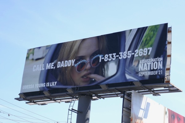 Assassination Nation Call me daddy billboard