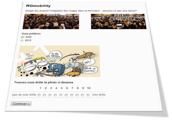 afficher des images dans un formulaire google drive