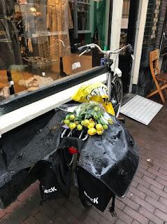 Amsterdam photo typique sous la pluie