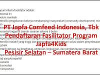 Seleksi Administrasi PT Japfa Comfeed Indonesia Untuk Kab Pesisir Selatan 26 Maret sd 01 April 2018