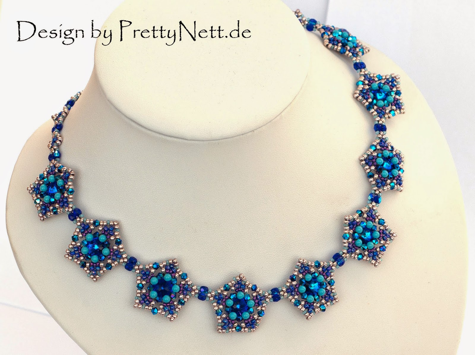 "Beading Pattern for necklace ""Star Dust"" by PrettyNett"