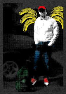 Self-portrait in bananawings