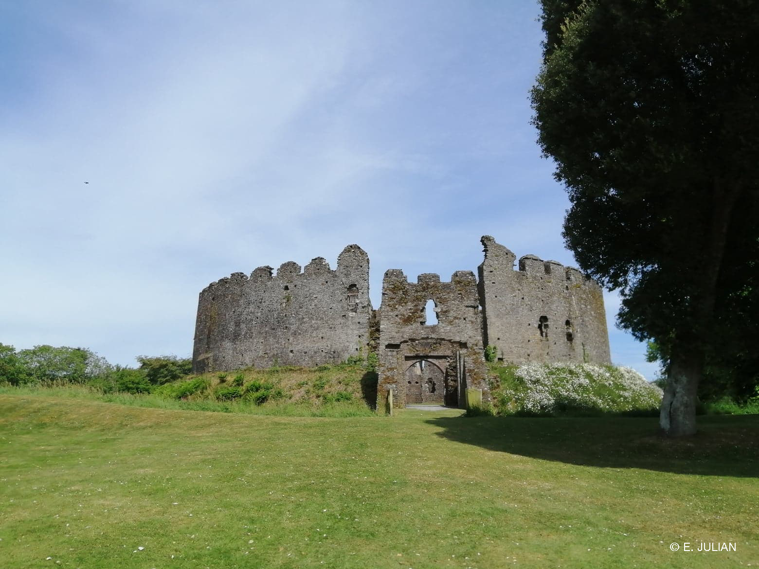 The entrance to Restormel Castle, Cornwall