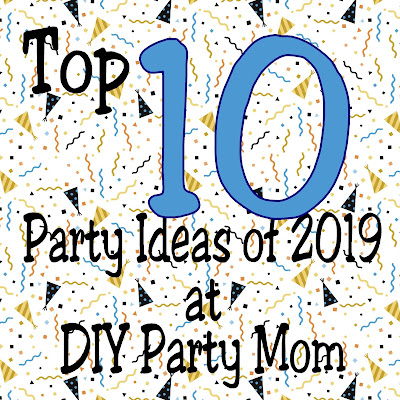 Celebrate at your next party with one of these diy party ideas from DIY Party Mom.  Here are the top 10 party projects of 2019.  Be sure to pin them for your next party project.