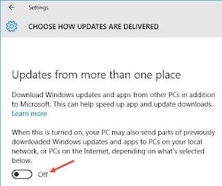 tắt Windows Delivery Optimization