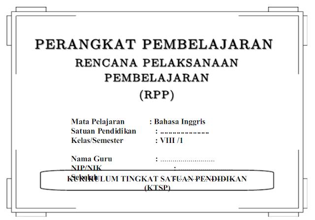 RPP Bahasa Inggris SMP/MTs Kelas 8 Kurikulum 201 Semester 1 dan 2 docx