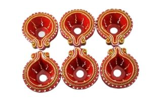 Multi coloured Clay Diyas