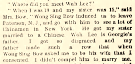 """Wong Sing Bow's Child,"" The Times Union (Brooklyn, NY) 17 May 1889"