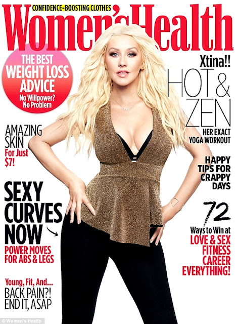Actress, Singer, @ Christina Aguilera - Women's Health US March 2016