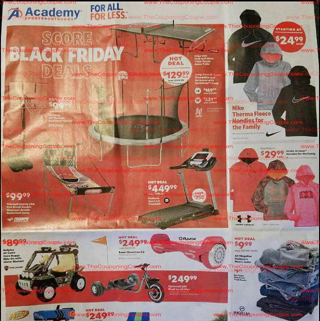 Academy Sports and Outdoors Black Friday 2017 Ad