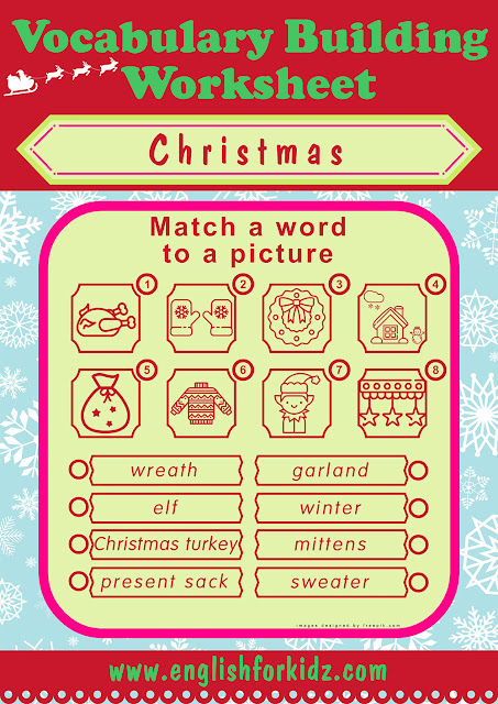 Christmas worksheet for middle school