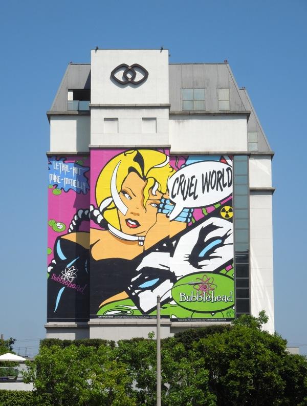 Daily Billboard: Giant Bubblehead Cruel World billboard ...