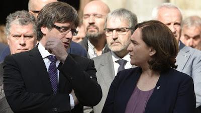 Colau, subvención, asociación, independencia, cataluña, barcelona, españa
