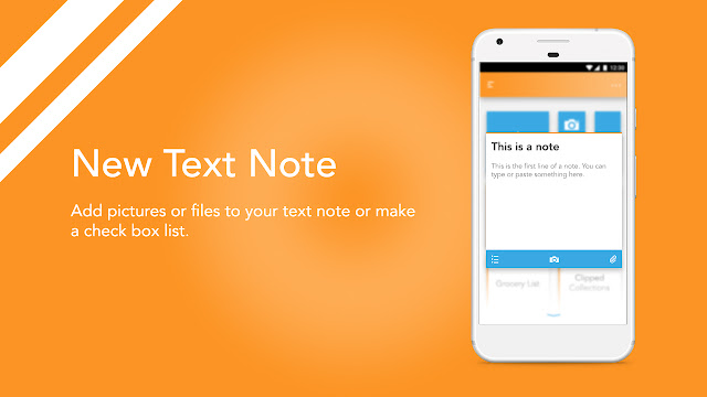 Android app UI and UX : bud New Note