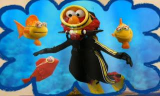 Dorothy imagines Elmo to be a scuba diver doing scuba diving. Elmo's World Eyes Tickle Me Land