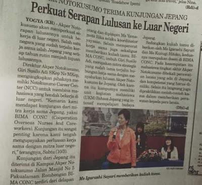 Seminar Keperawatan yang Dihadiri BIMA CONC di Yogyakarta