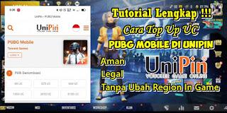 Cara Top Up UC PUBG Mobile Di Unipin