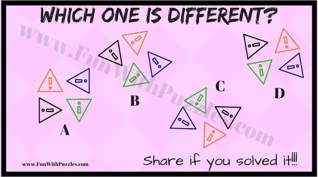 Can You Find which one is different?