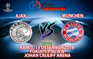 Prediksi Bola Ajax vs Bayern Munchen 13 Desember 2018