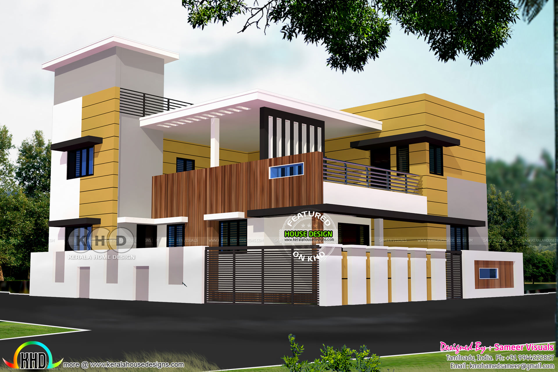 modern house - 10+ Tamilnadu Small House Design In India Pictures
