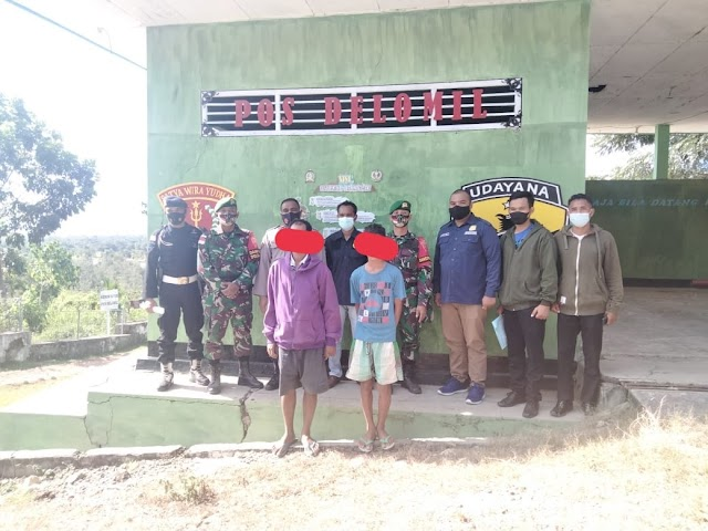 Kompak Patroli Bersama, TNI Polri Gagalkan Penyeludupan Tembako ke Timor Leste.