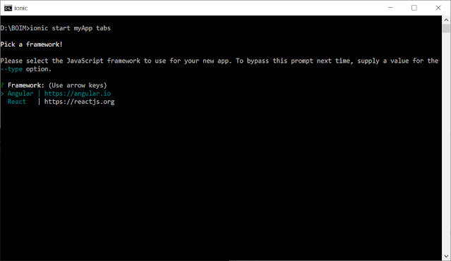 Cara Instal Ionic Framework di Windows 7/8/10