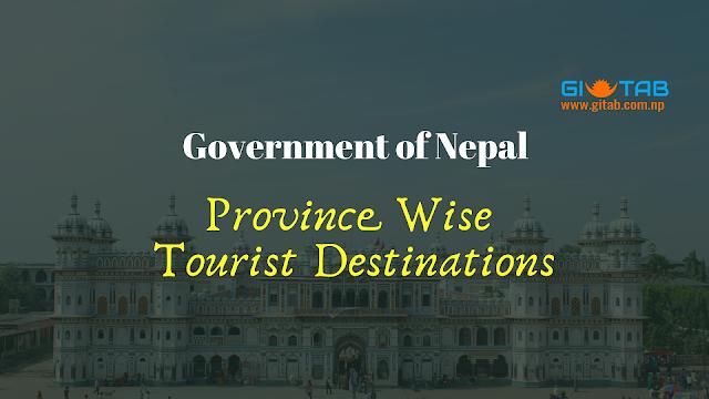 Province Wise Tourist Destinations