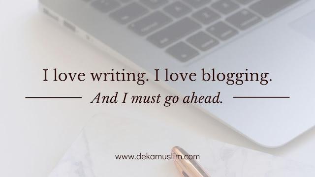 i love writing i love blogging