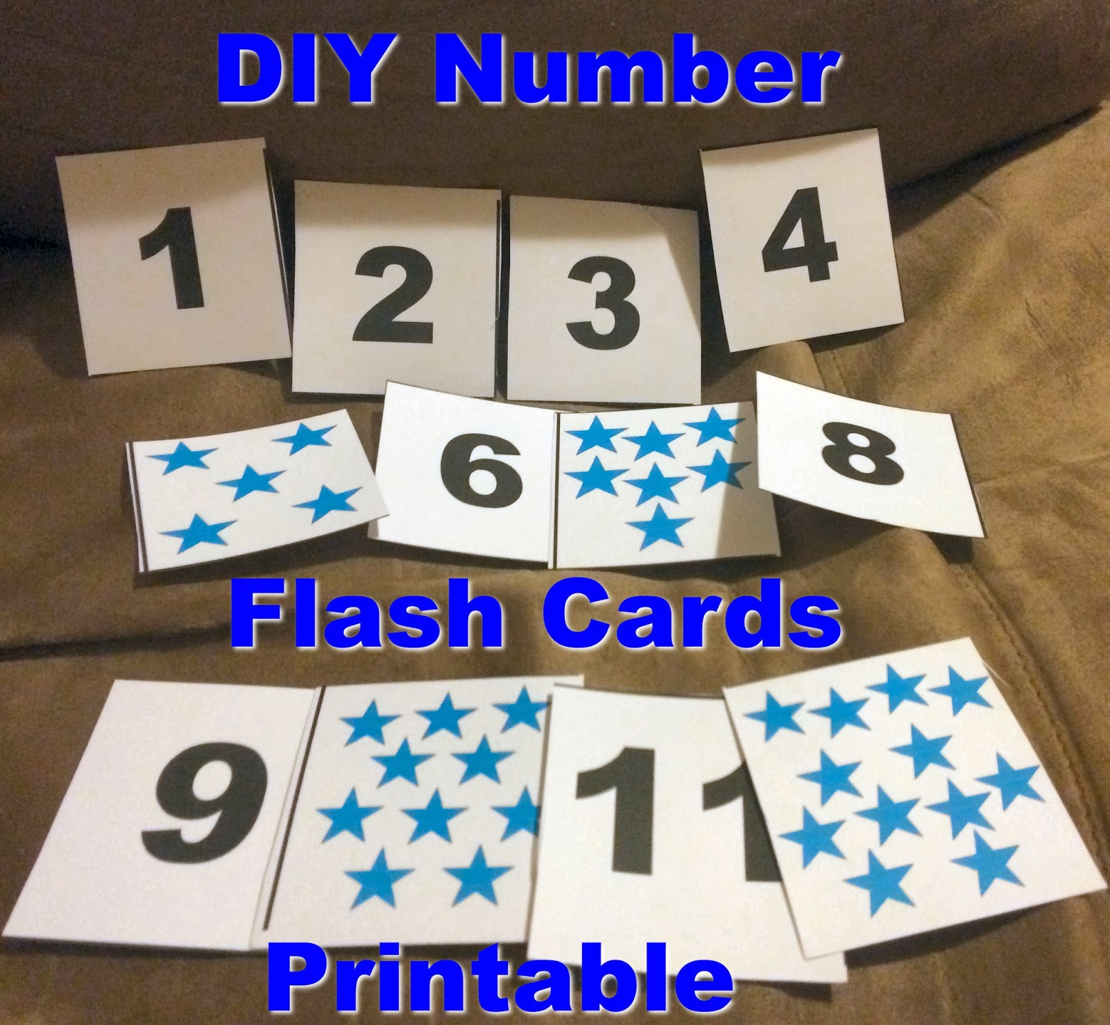 DIY Number Flash Cards for Toddlers and Printable - First ...