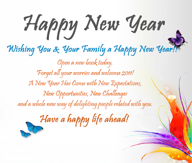 New Year Wishes for Friends & Family 2018