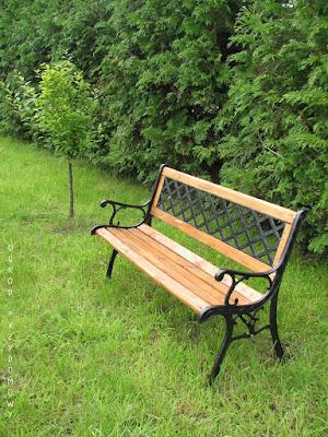 meble ogrodowe, ogród przydomowy, ogród za grosze