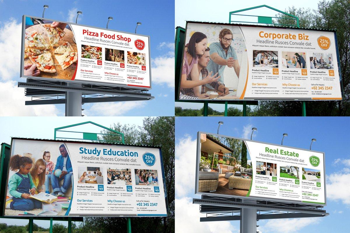 Billboard Signage Bundle AI & PSD & INDD & IDML