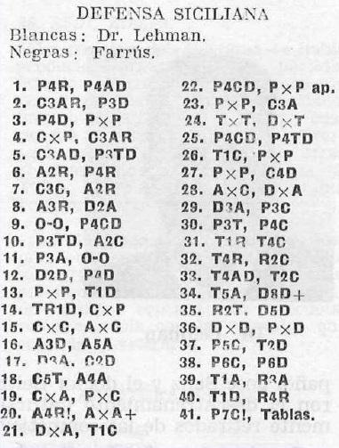 I Torneo Internacional de Lleida 1963, El Ajedrez Español nº 85, julio 1963, pág. 262
