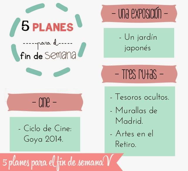 5 planes para el fin de semana
