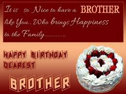 Happy Birthday wishes for brother: it is so nice to have a brother like you