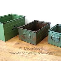Comprar cajas industriales vintage para decoración