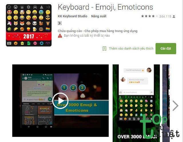 Bàn phím Emoji TouchPal