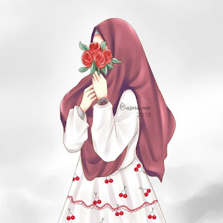 best art animasi hijab