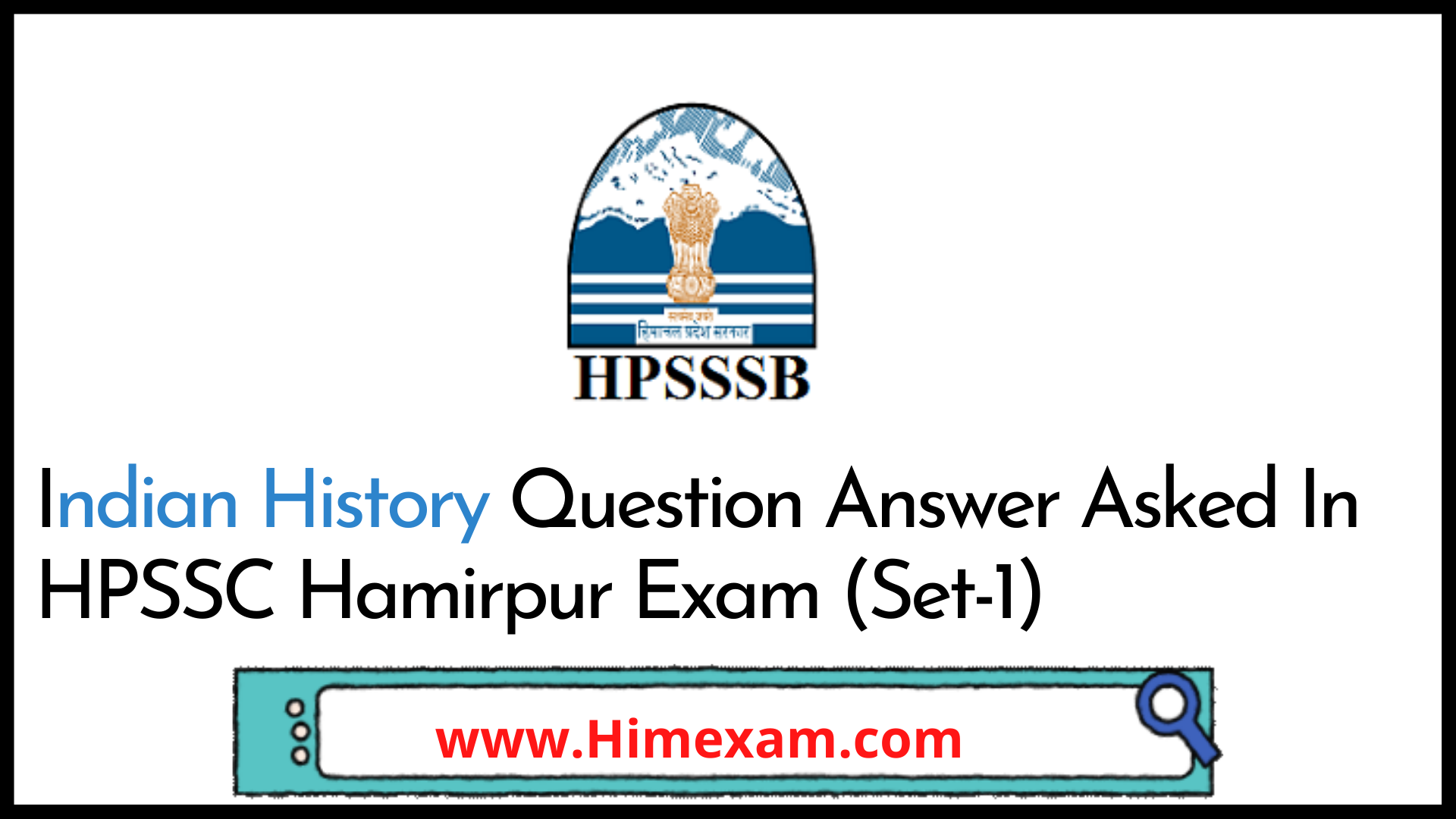 Indian History Question Answer Asked In HPSSC Hamirpur Exam (Set-1)