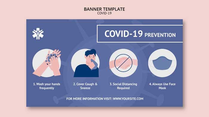 Coronavirus Banner PSD Template