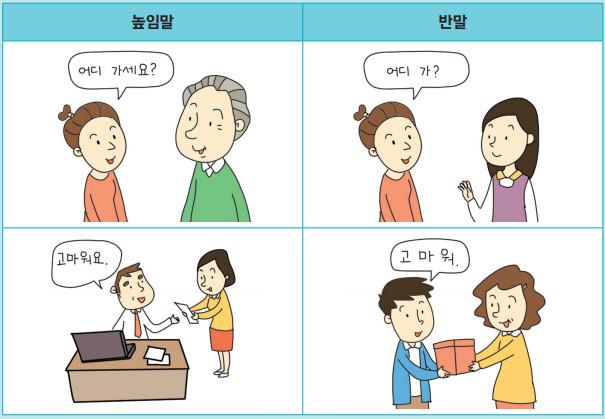 문화 높임말과 반말