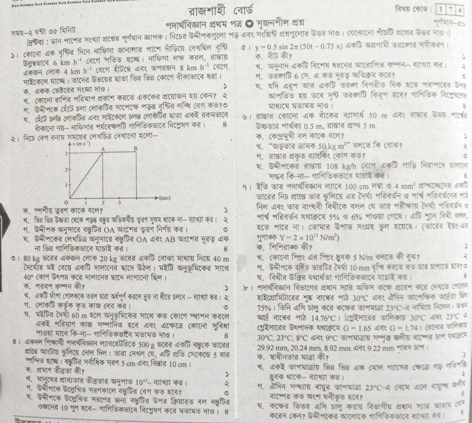hsc Physics 1st Paper suggestion, exam question paper, model question, mcq question, question pattern, preparation for dhaka board, all boards