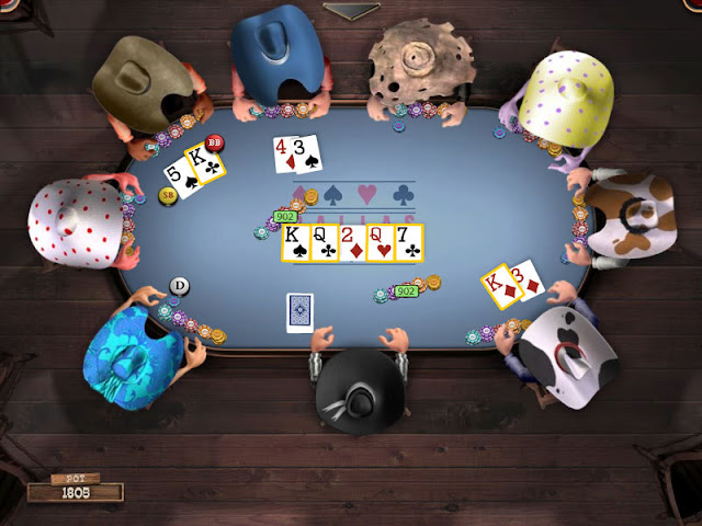 a table of poker online games