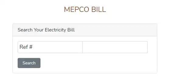 MEPCO Bill Online Check   MEPCO Wapda Duplicate Bill Check