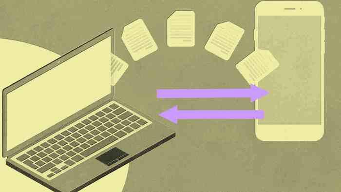 Kirim foto video dan aplikasi dari HP ke laptop