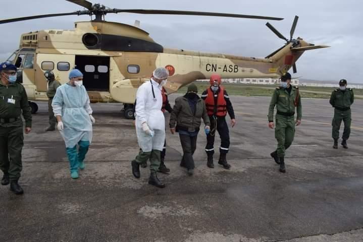 قائد المنطقة الجنوبية للقوات المسلحة الملكية يدخل على خط إنقاذ حارس بمروحية بواد سوس